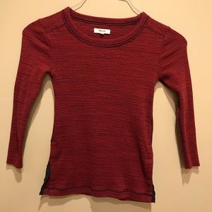Madewell Thermal Side Button Waffle Tee Size XS
